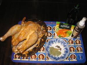 ингредиенты для курицы на бутылке