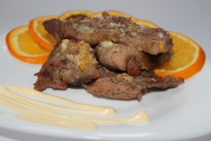 Пошаговый фоторецепт мяса в апельсинах