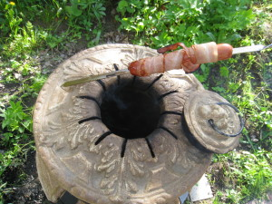 Готовые сосиски гриль из тандыра