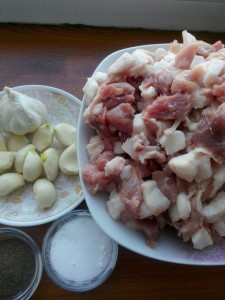 Ингредиенты для домашней колбасы