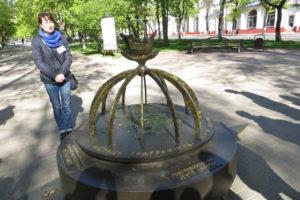 Памятный знак, о точном месторасположении географического центра Европы в Полоцке