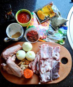 Ингредиенты для запеченых ребер и крылышек барбекю