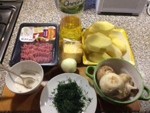 Продукты для картошки с грибами