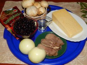 Продукты для приготовления языка в духовке