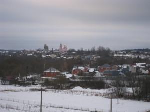 Вид на Боровск со стороны Пафнутьево-Боровского монастыря