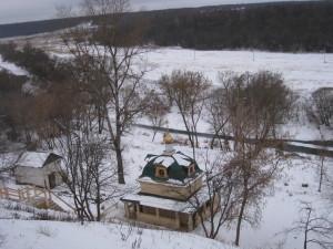 Купель рядом с Храмом святого Николая Чудотворца в Русиново