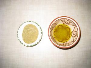 Смешиваем лимон,специи и масло