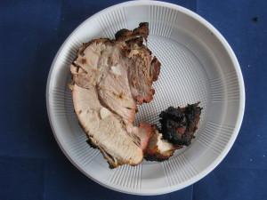 Готовое мясо из тандыра в разрезе