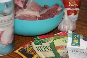 ингредиенты для приготовления мяса с имбирем