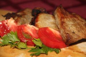 Мясо с имбирем
