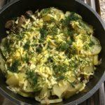 ингредиенты для приготовления картошки с грибами